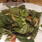 The dressing for this Spinach Salad was very good.