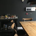 Pictures of room, breakfast, cider bar and Watchet!