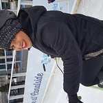 Having fun at Canalside