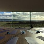 Yoga studio, looking out to the Atlantic