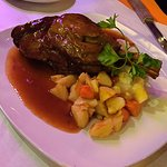 Delicious lamb shank on New Year's Eve.