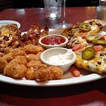 The Triple Treat... Nachos, Wisconsin Bites and Potato Skins