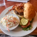 Cheeseburger and Cole Slaw