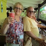 Enjoying Antigua and our refreshing drinks