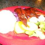 mahi, rice, veggies