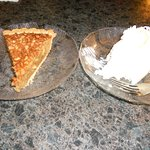 haupia pie (coconut) and macadamia nut tart