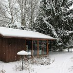 Shelter house open year round - - running water and flush toilets only in the warmer months..