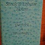 In house menu
