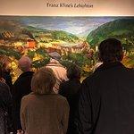 "Viewing the Franz Kline mural entitled ""Lehighton"" - his boyhood hometime."