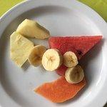 Le petit déjeuner est très léger, par exemple les fruits. Dommage de venir au Costa Rica et de m