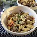 Low Country Pasta (penne with andouille in a cream sauce)