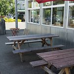 Outdoor seating at Red Tree