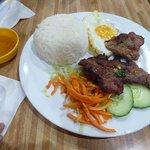 Lemon Grass Pork with Rice and Egg