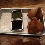 The Delicious Samosas with Delicious Sauces