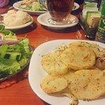 House potatoes, side salad