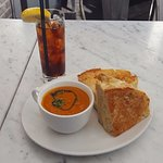 Grilled cheese, tomato soup combo is incredible