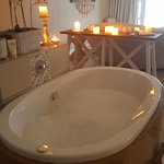 the most amazing bath in the 'honeymoon' suite