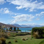 Looking across Lake Tekapo from guest house