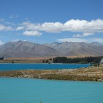 Looking across Lake Tekapo