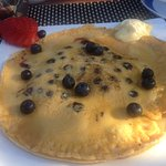 Delicious blueberry pancake