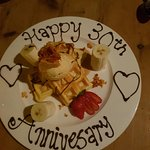 Beautiful decorated plate for our anniversary