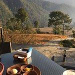 Breakfast overlooking the valley