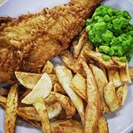 WEEKDAY SPECIAL - Beer Battered Cod, Real Chips and Mushy Peas