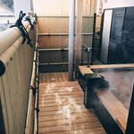 Private open-air hot spring bath, Room name is Matsu