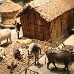 Макет со сценкой из сельской жизни