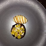 Caramel/chocolate mousse