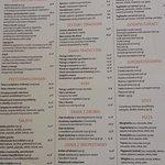 Zielony domek - menu