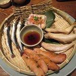 魚と鳥の料理
