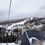 Gondola from Parking lot to ski center and Montagne Lodge