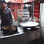 The milk boiling and dessication in progress, and jalebis!