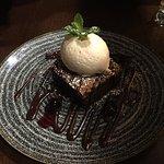 Amazing warm brownie with ice-cream
