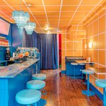 Wes Anderson-themed spritz bar
