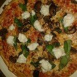 Gluten free magherita Pizza with mushrooms and buffalo/usual mozzarella