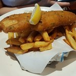 Cod deep fried with a heavy batter and served with chips (RM52.00)