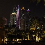 The Dubai Marina viewed from the Pool Area by night