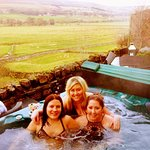 Private hot tub overlooking the Yorkshire Dales