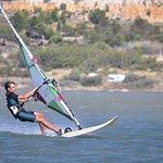 Spot windsurf. Accès direct depuis le camping