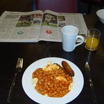 What? No Bacon for Breakfast? Sausages, Beans and Scrambled Eggs are okay, but only as far as th