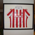 Stoke City FC supporters will love the signed shirt belonging to Ryan Shawcross in the hotel lob