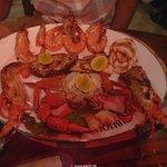 Mixed seafood plate im Bijou Restaurant