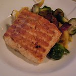 cedar Salmon, and brussel sprouts