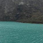 Imagen panoromica de la laguna Llanganuco