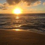 Sunrise at Aston Islander on the Beach