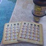 Plying bingo at the activity pool