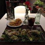 Caesar salad and calamari for dinner+