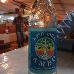 Ethiopian water, we tried as a curiosity.